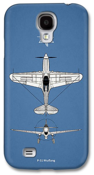 P51 Photographs Galaxy S4 Cases - P-51 Mustang Galaxy S4 Case by Mark Rogan