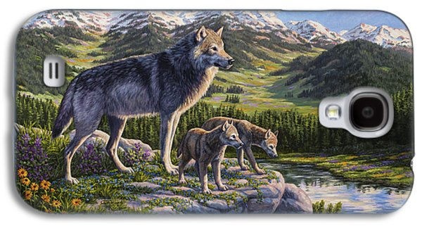 Wolf Painting - Passing It On Galaxy S4 Case by Crista Forest