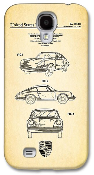 Classic Cars Photographs Galaxy S4 Cases - Porsche 911 Patent Galaxy S4 Case by Mark Rogan