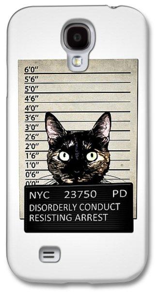 Kitty Mugshot Galaxy S4 Case by Nicklas Gustafsson