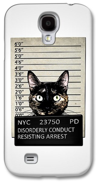 Jail Galaxy S4 Cases - Kitty Mugshot Galaxy S4 Case by Nicklas Gustafsson
