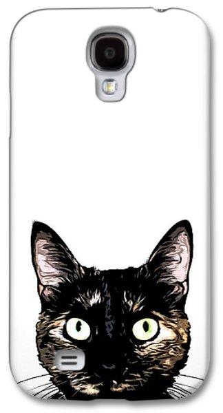 Peeking Cat Galaxy S4 Case by Nicklas Gustafsson