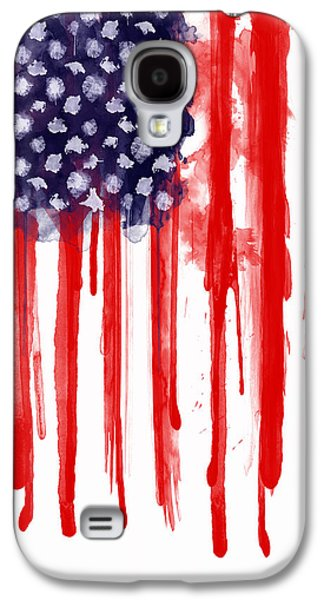 American Spatter Flag Galaxy S4 Case by Nicklas Gustafsson