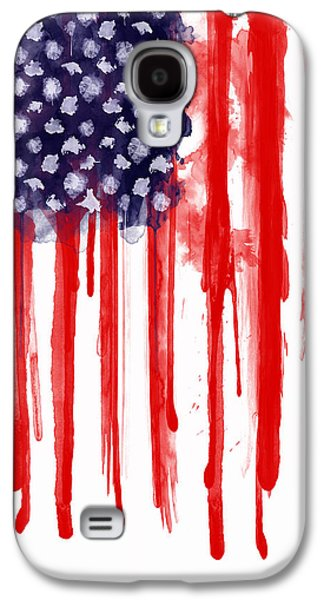 Drips Galaxy S4 Cases - American Spatter Flag Galaxy S4 Case by Nicklas Gustafsson