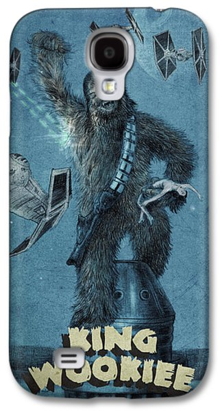 Building Drawings Galaxy S4 Cases - King Wookiee Galaxy S4 Case by Eric Fan