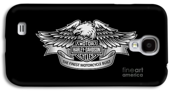 Harley Davidson Galaxy S4 Cases - Harley Eagle Phone Case Galaxy S4 Case by Mark Rogan