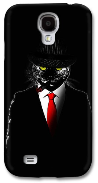Ties Galaxy S4 Cases - Mobster Cat Galaxy S4 Case by Nicklas Gustafsson