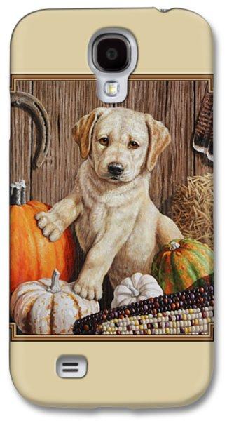 Pumpkin Puppy Galaxy S4 Case by Crista Forest
