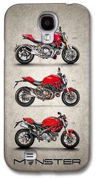 Ducati Monster Trio Galaxy S4 Case by Mark Rogan