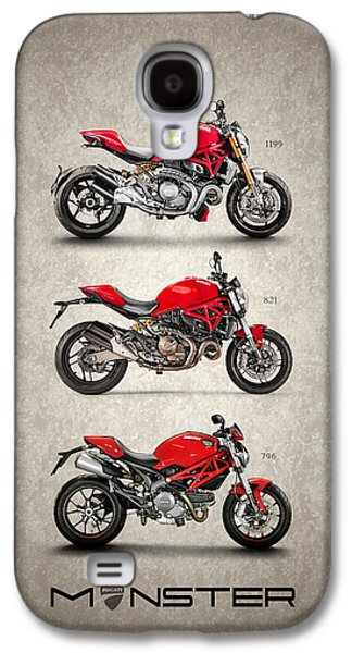 Bicycle Photographs Galaxy S4 Cases - Ducati Monster Trio Galaxy S4 Case by Mark Rogan