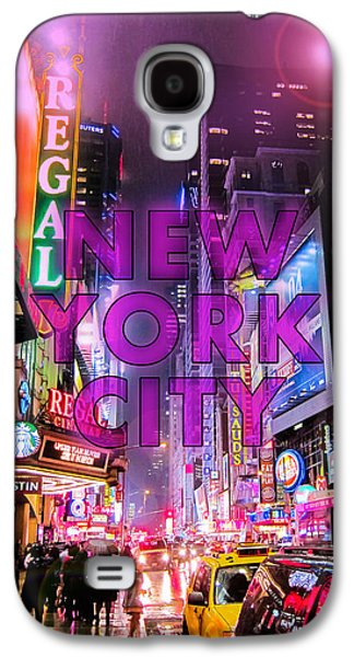 Light Galaxy S4 Cases - New York City - Color Galaxy S4 Case by Nicklas Gustafsson