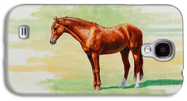 Chestnut Horse Galaxy S4 Cases - Roasting Chestnut - Morgan Horse Galaxy S4 Case by Crista Forest