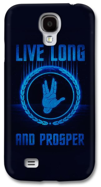 Enterprise Galaxy S4 Cases - Live Long and Prosper Spocks hand Leonard Nimoy Geek Tribut Galaxy S4 Case by Philipp Rietz