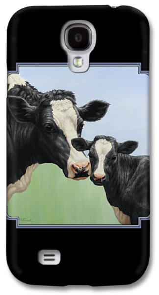 Holstein Cow And Calf Galaxy S4 Case by Crista Forest