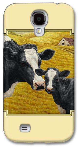 Holstein Cow And Calf Farm Galaxy S4 Case by Crista Forest