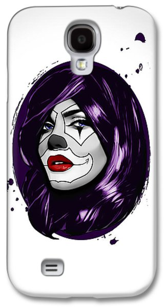 Make-up Galaxy S4 Cases - Clown Girl Galaxy S4 Case by Nicklas Gustafsson