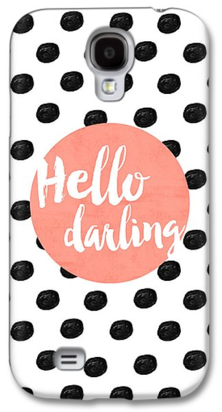 Hello Darling Coral And Dots Galaxy S4 Case by Allyson Johnson