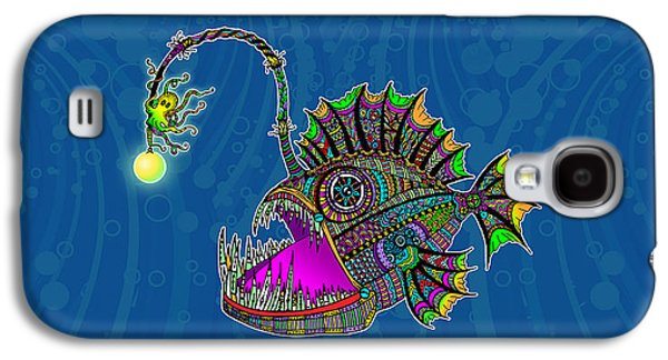 Electric Angler Fish Galaxy S4 Case by Tammy Wetzel