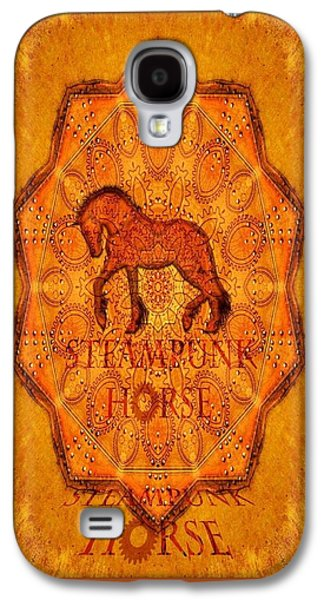 Mechanism Galaxy S4 Cases - Steampunk horse Galaxy S4 Case by Valerie Anne Kelly