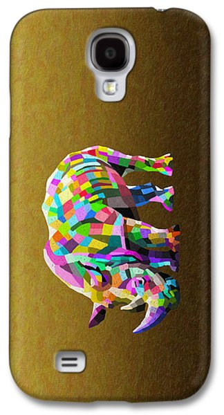 One Horned Rhino Paintings Galaxy S4 Cases - Wild Rainbow Galaxy S4 Case by Anthony Mwangi
