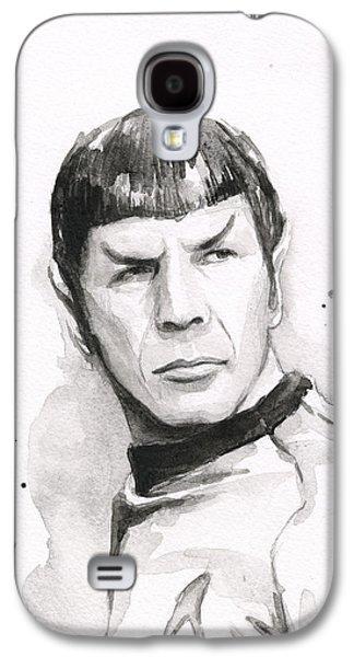 Star Trek Galaxy S4 Cases - Spock Portrait Galaxy S4 Case by Olga Shvartsur