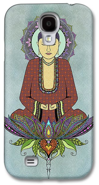 Trippy Drawings Galaxy S4 Cases - Electric Buddha Galaxy S4 Case by Tammy Wetzel