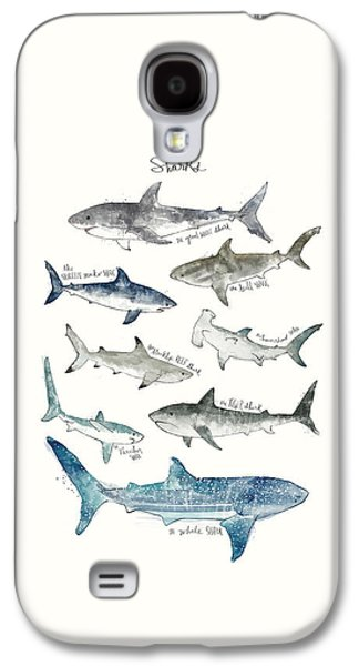 Sharks Galaxy S4 Case by Amy Hamilton