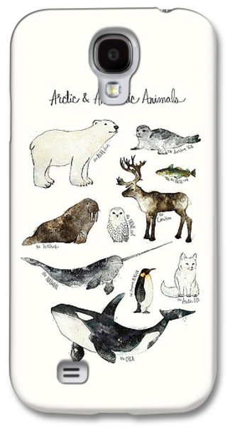 Arctic And Antarctic Animals Galaxy S4 Case by Amy Hamilton