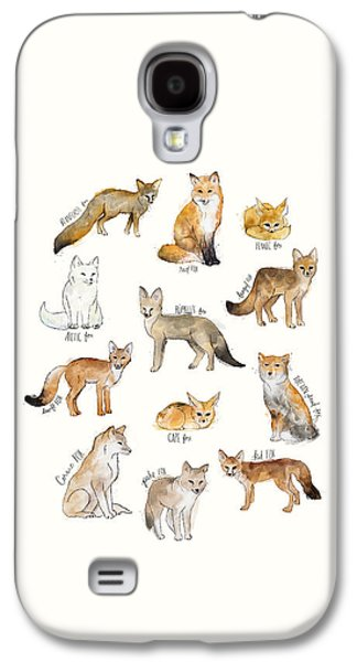 Foxes Galaxy S4 Case by Amy Hamilton