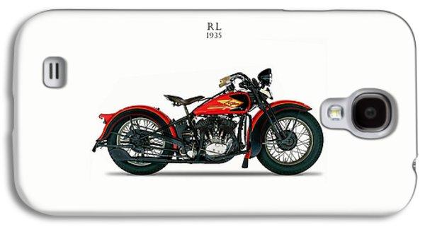 Glides Galaxy S4 Cases - Harley-Davidson RL 1935 Galaxy S4 Case by Mark Rogan