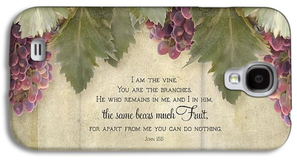 Tuscan Vineyard - Rustic Wood Fence Scripture Galaxy S4 Case by Audrey Jeanne Roberts