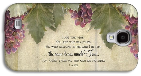 Wine Tasting Galaxy S4 Cases - Tuscan Vineyard - Rustic Wood Fence Scripture Galaxy S4 Case by Audrey Jeanne Roberts