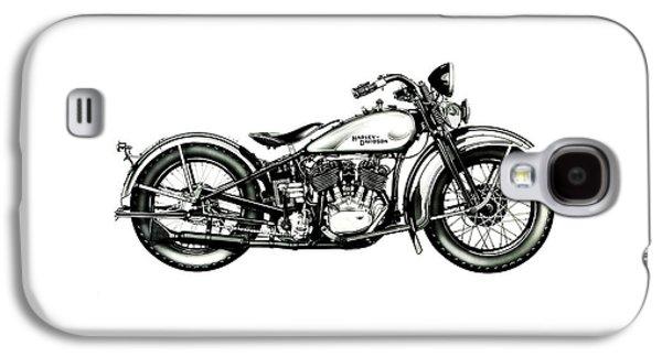 Glides Galaxy S4 Cases - Harley Davidson 1933 Galaxy S4 Case by Mark Rogan
