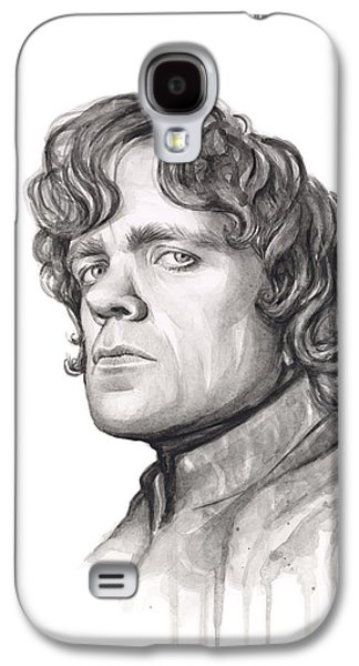 Fan Paintings Galaxy S4 Cases - Tyrion Lannister Galaxy S4 Case by Olga Shvartsur