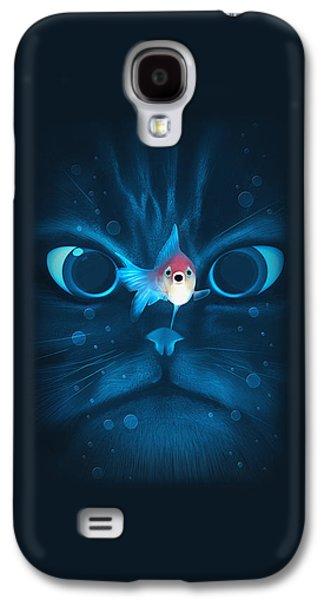 Cat Fish Galaxy S4 Case by Nicholas Ely