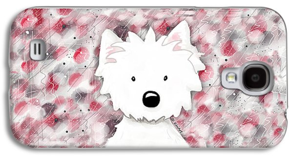 Recently Sold -  - Dogs Digital Galaxy S4 Cases - Westie Impressions II Galaxy S4 Case by Kim Niles