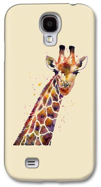 Colorful Abstract Galaxy S4 Cases - Giraffe Galaxy S4 Case by Hailey E Herrera