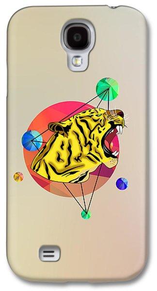 Animation Galaxy S4 Cases - Tiger  Galaxy S4 Case by Mark Ashkenazi