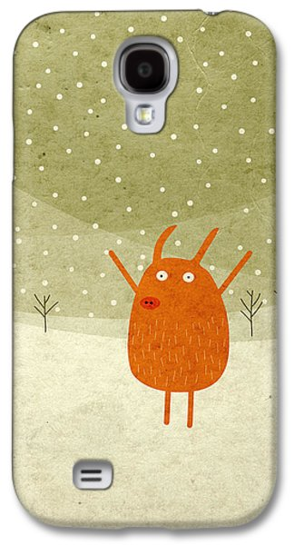 Galaxy S4 Cases - Pigs and bunnies Galaxy S4 Case by Fuzzorama