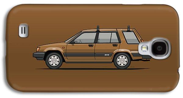 Toyota Tercel Sr5 4wd Wagon Al25 Bronze Galaxy S4 Case by Monkey Crisis On Mars