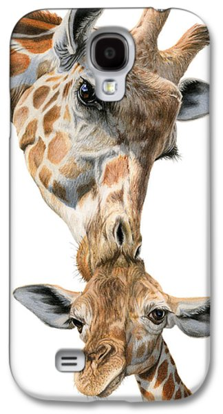Mother And Baby Giraffe Galaxy S4 Case by Sarah Batalka