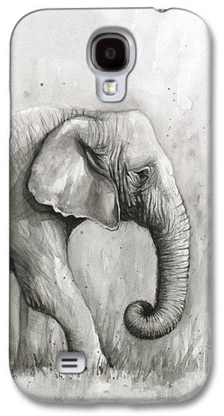 Elephant Watercolor Galaxy S4 Case by Olga Shvartsur