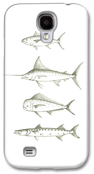 Saltwater Gamefishes Galaxy S4 Case by Juan Bosco