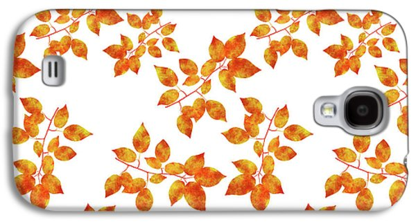 Black Cherry Pressed Leaf Art Galaxy S4 Case by Christina Rollo