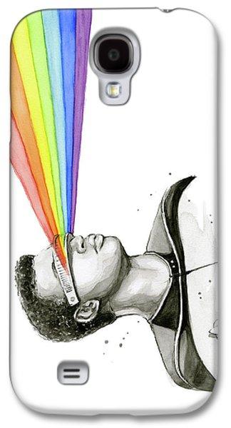 Geordi Sees The Rainbow Galaxy S4 Case by Olga Shvartsur