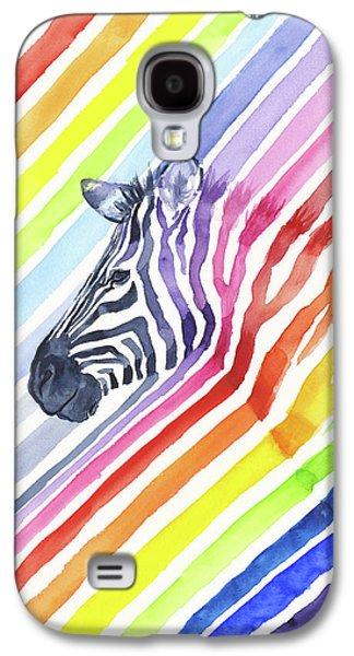 Rainbow Zebra Pattern Galaxy S4 Case by Olga Shvartsur