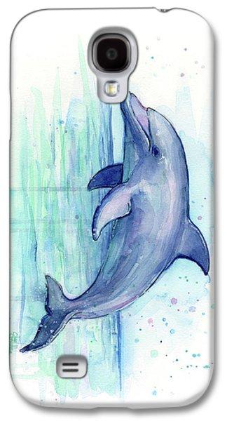 Dolphin Watercolor Galaxy S4 Case by Olga Shvartsur