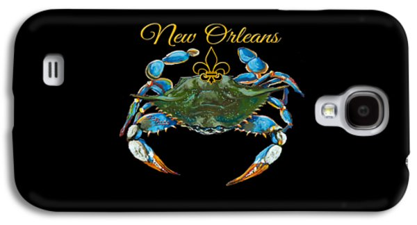 Artist Galaxy S4 Cases - Louisiana Blue on Red Galaxy S4 Case by Dianne Parks