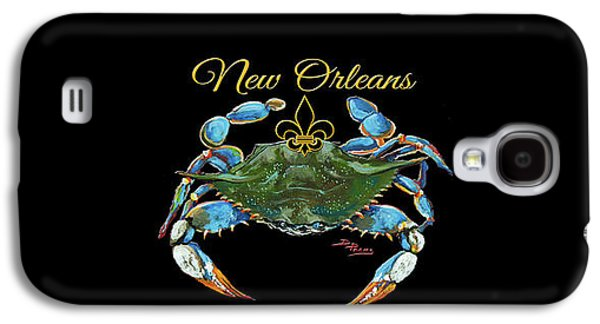 Louisiana Blue On Red Galaxy S4 Case by Dianne Parks