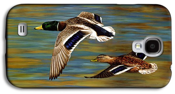 Male Paintings Galaxy S4 Cases - Golden Pond Galaxy S4 Case by Crista Forest